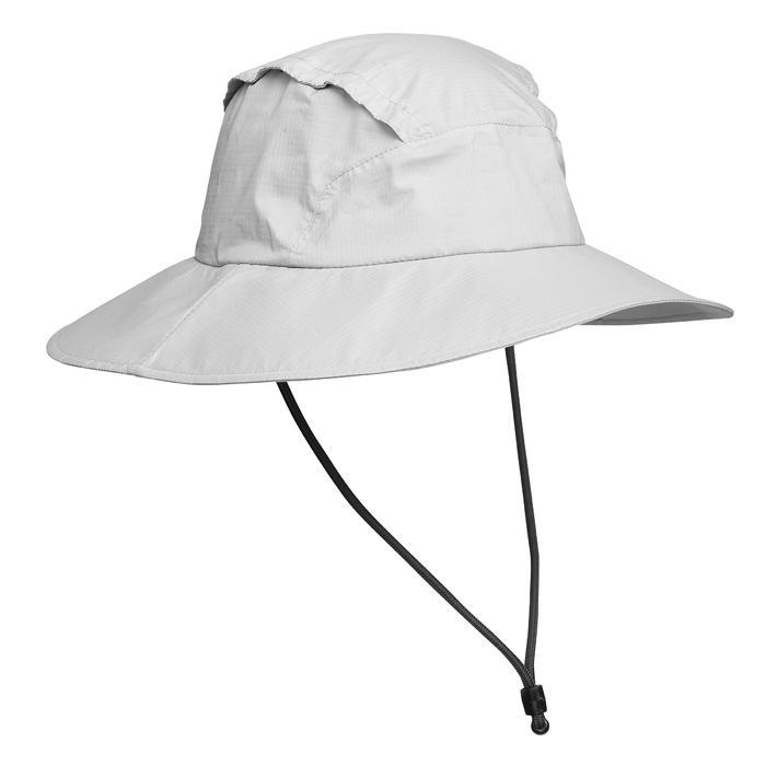 Waterproof Mountain Trekking Hat | TREK 900 Light Grey