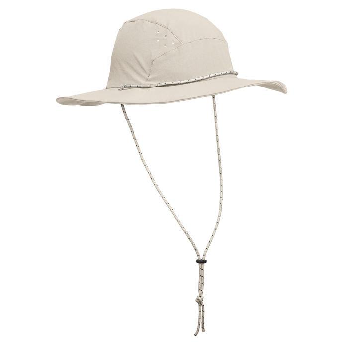 Chapeau de trekking montagne anti-UV - TREK 500 beige homme
