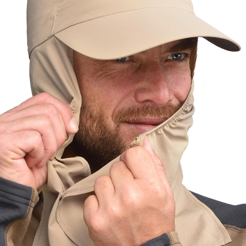 Desert Trekking Cap UV-Protection Desert 500 - Brown