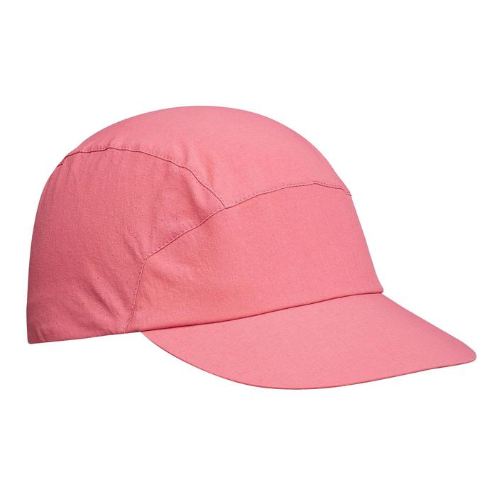 Mountain trekking cap, ventilated and ultra compact TREK 500 - Pink
