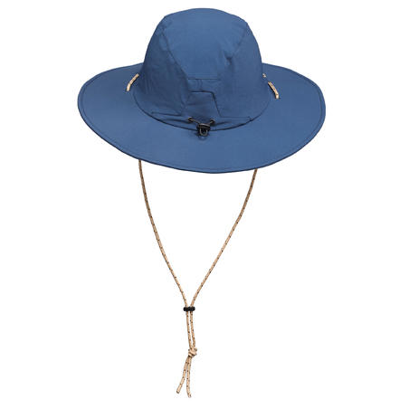 Sombrero de trekking en montaña TREK 500 Hombre anti-UV azul