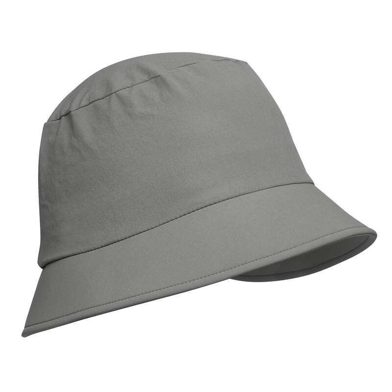 CĂCIULI DRUMEȚIE, TREKKING Drumetie, Trekking - Pălărie Trek 100 Albastru  FORCLAZ - Imbracaminte