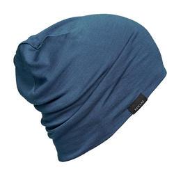 Bonnet de Trekking Montagne laine mérinos - TREK 500 bleu