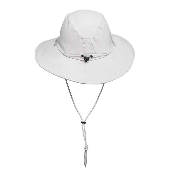 Sombrero Trekking Montaña Forclaz Trek 500 Mujer Anti-UV Gris Claro