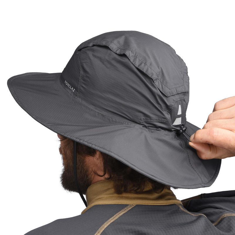 Waterproof Mountain Trekking Hat   TREK 900 Dark Grey