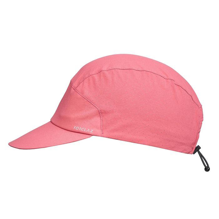 透氣登山健行帽TREK 500 - 粉紅色