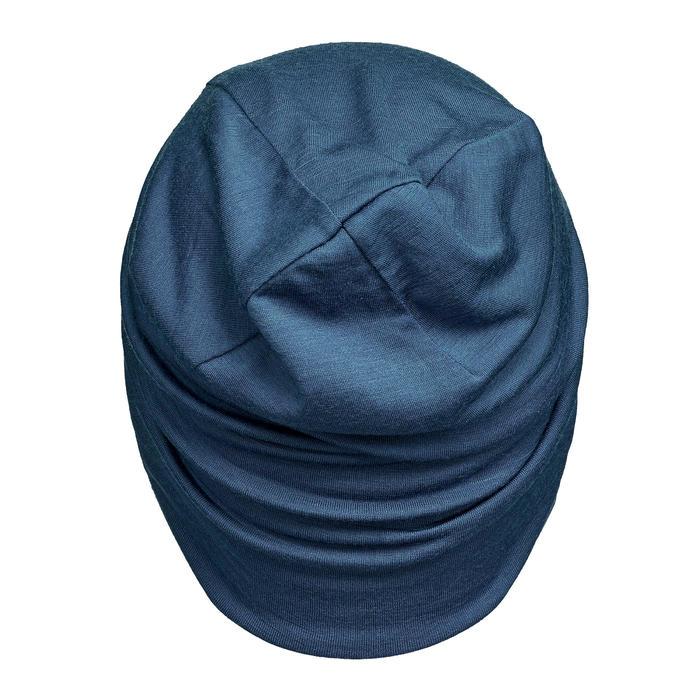 美麗諾(Merino)羊毛登山健行帽TREK 500-藍色