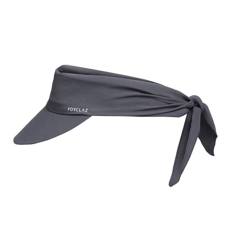 หมวกแก๊ปขนาดกะทัดรัดเป็นพิเศษสำหรับการเทรคกิ้งบนภูเขารุ่น TREK 100 (สีเทาเข้ม)
