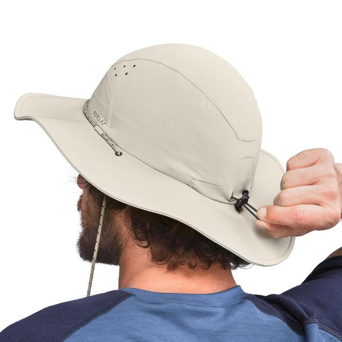 84234a505da Sombrero Trekking Montaña Forclaz Trek 500 Hombre Anti-UV Beige ...