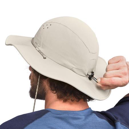 Men's Anti-UV Mountain Trekking Hat - TREK 500 Beige