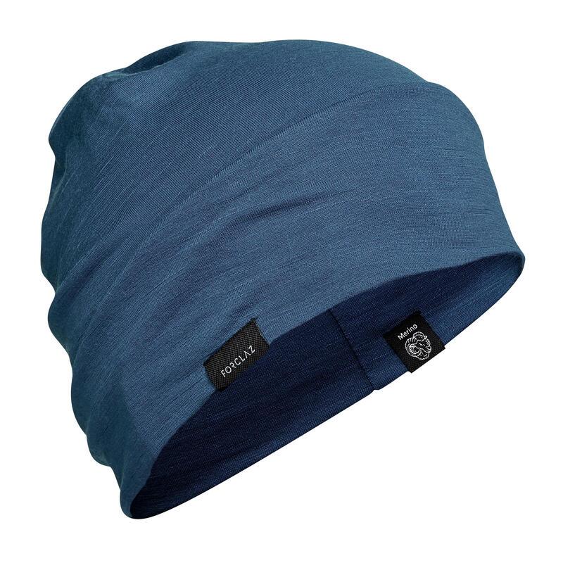 Gorro de Montaña y Trekking Lana Merina Forclaz Trek 500 Wool Azul