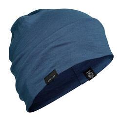Berretto montagna TREK500 WOOL azzurro