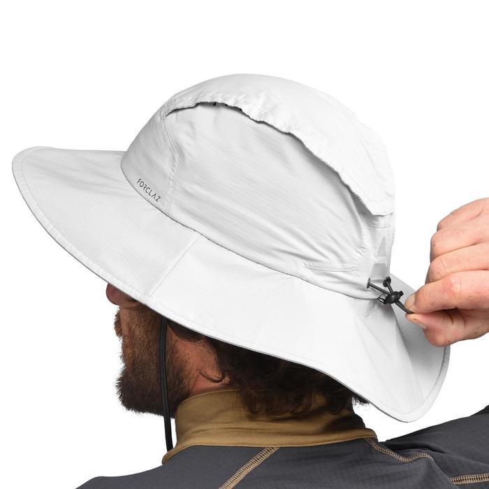 防水登山健行帽Trek 900-淺灰色