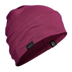 Mountain Trekking Merino Wool Hat Trek 500 - Purple