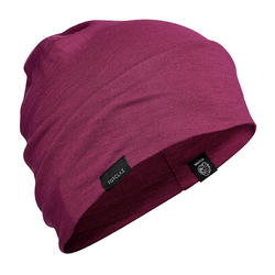 Mountain Trekking Merino Wool Hat Trek 500 - Purple