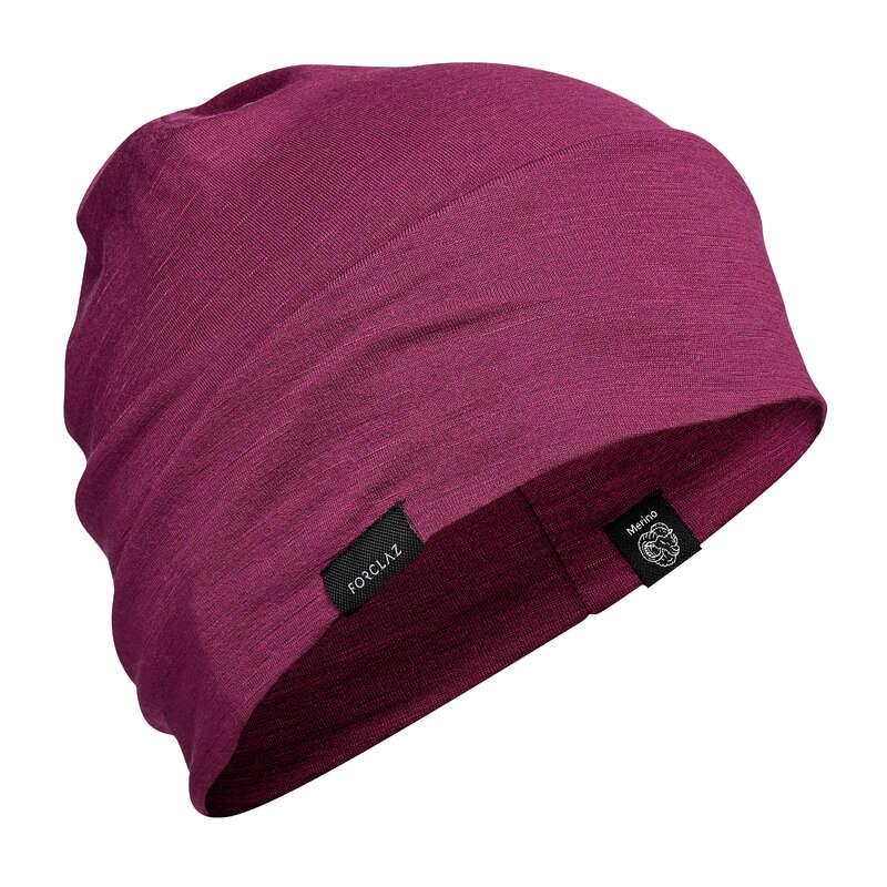 HAT, CAP, BUFF, BEANIE HIKING/TREK Hiking - Wool Hat Trek 500 - Purple FORCLAZ - Hiking Clothes