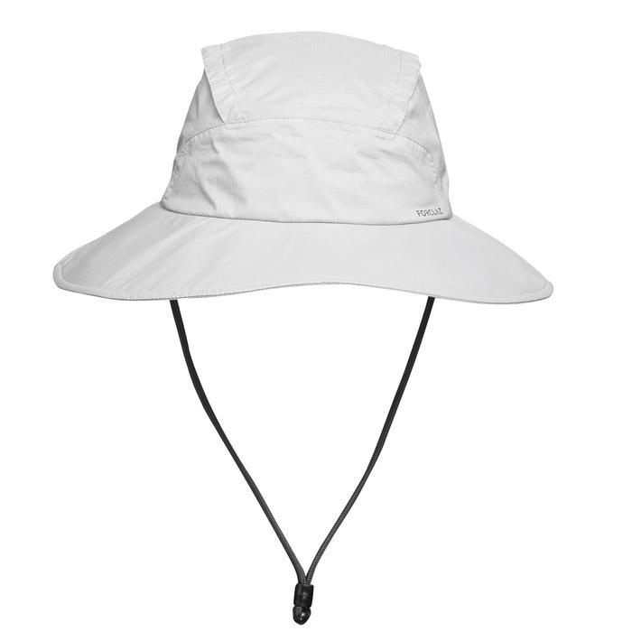 Sombrero de Trekking en montaña TREK 900 impermeable gris oscuro ... 79fd982b5c6