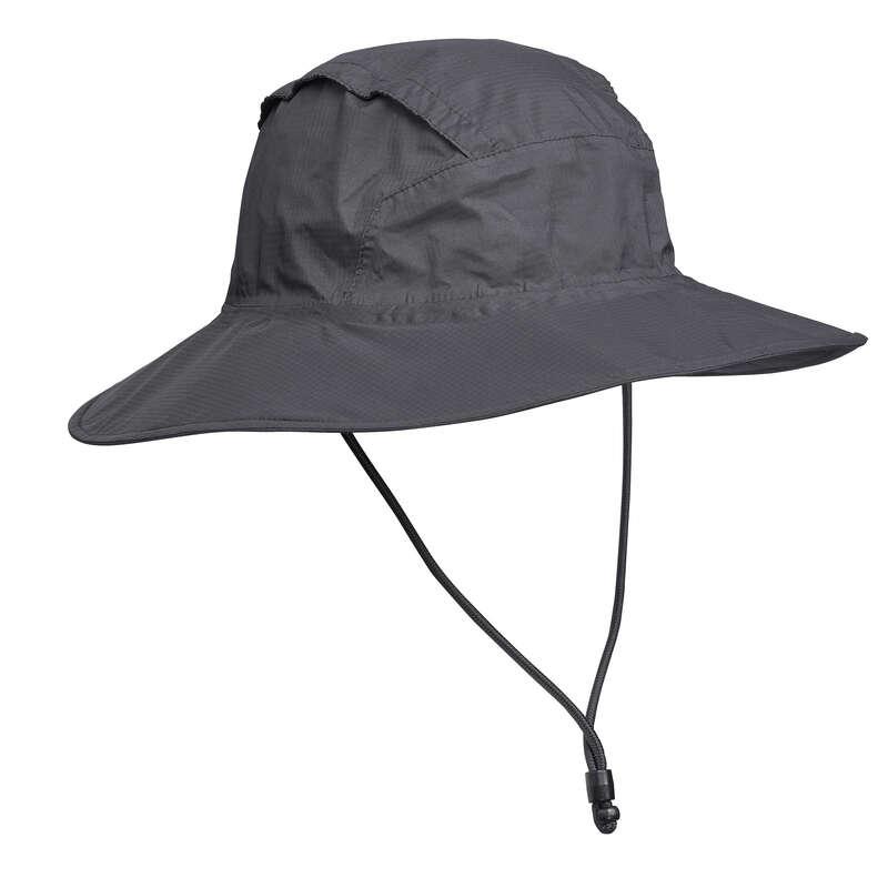 CĂCIULI DRUMEȚIE, TREKKING - Pălărie Trek 900 Gri FORCLAZ