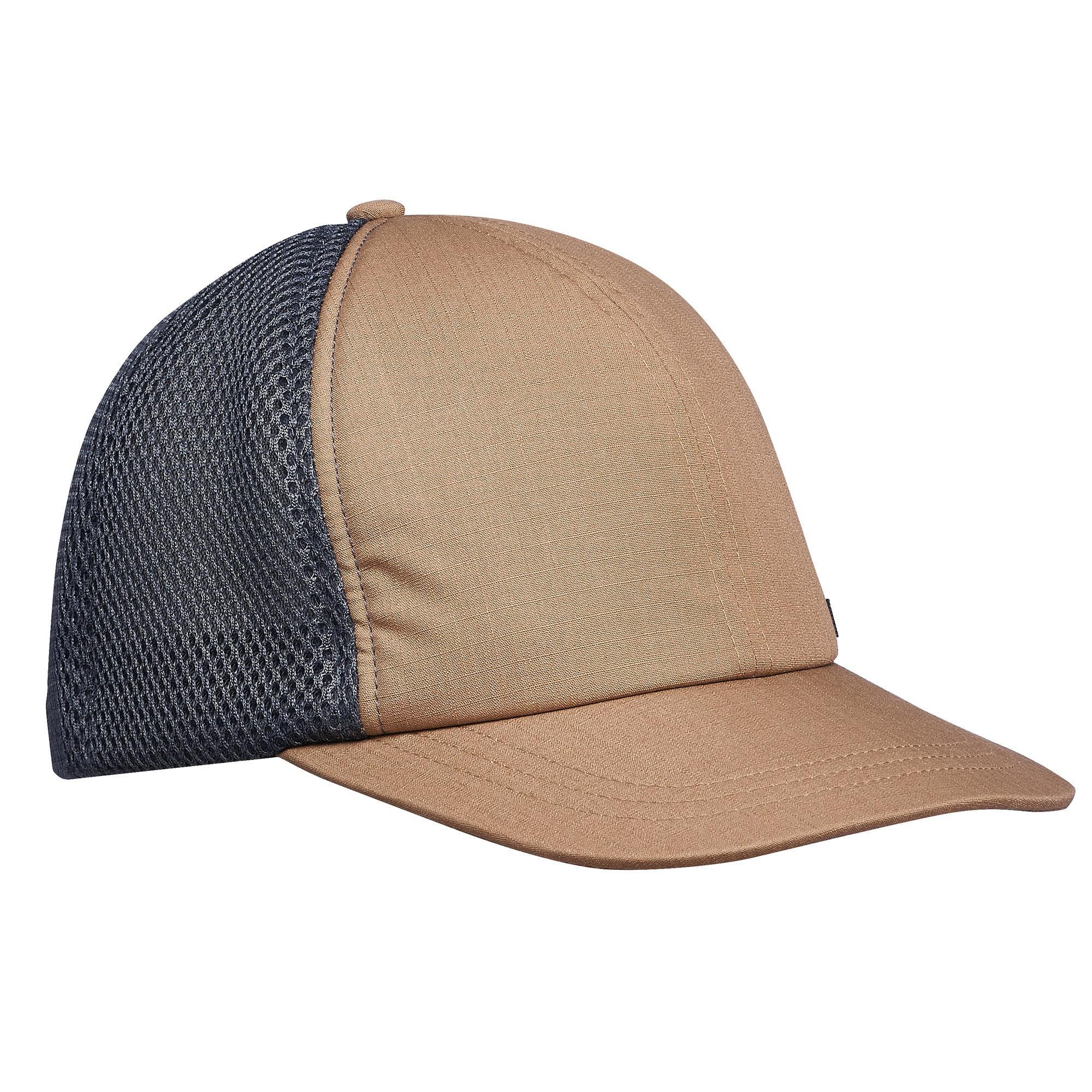 Schirmmütze Cap Travel 500 Camel | Accessoires > Caps > Sonstige Caps | Braun - Grau | Forclaz