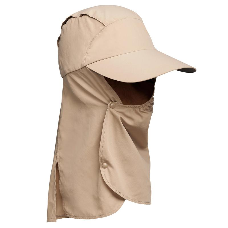 Șapcă anti-UV Trekking în deșert DESERT500 Maro
