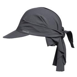 Gorra de Trekking en montaña TREK 100 ultra compacta gris oscuro