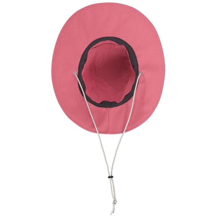 女款抗UV登山健行帽Trek 500-粉紅色