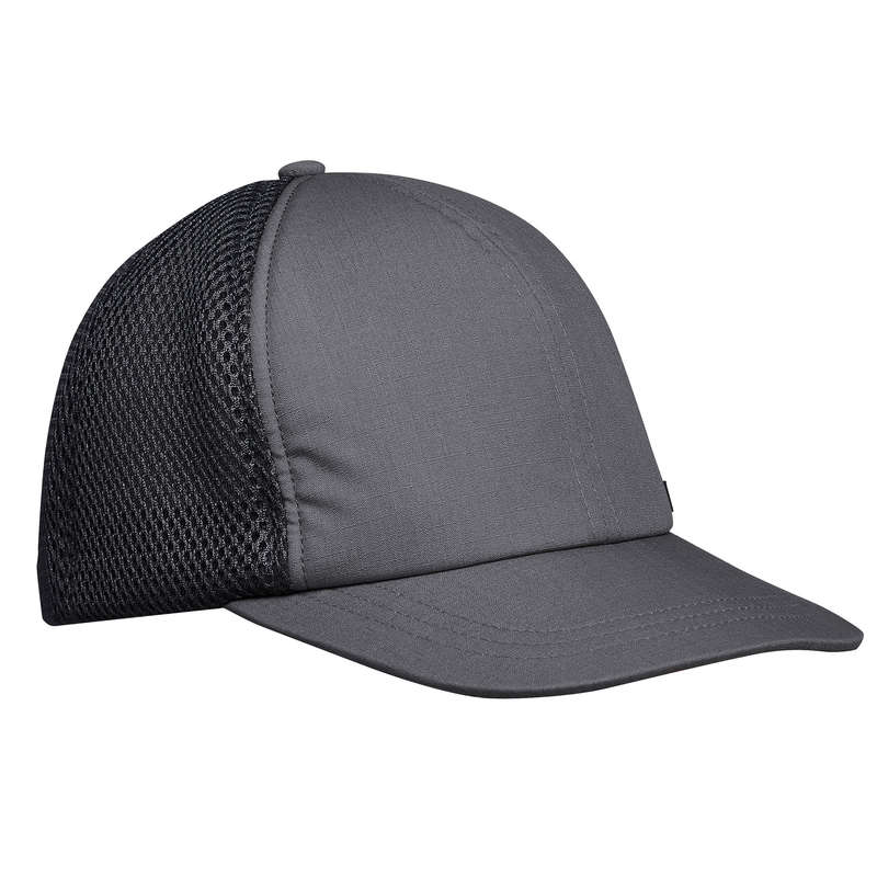 HAT, CAP, BUFF, BEANIE HIKING/TREK Hiking - Cap .Travel 500 Compact - Grey FORCLAZ - Hiking Clothes