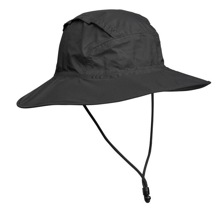 Trek 100 Mountain Trekking Waterproof Hat - Black