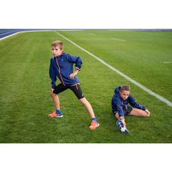 Windjack hardlopen kinderen blauw fluorood