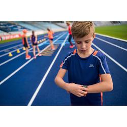 Montre chronomètre de course à pied W200 M bleu et orange
