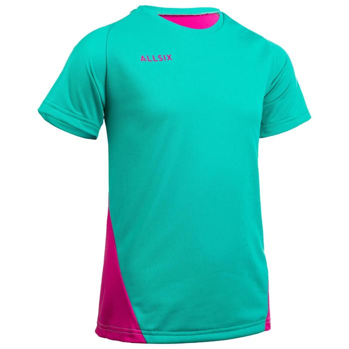 Maillot de volley-ball fille V100 vert et rose
