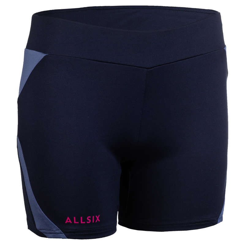 VOLLEY BALL APPAREL Volleyball and Beach Volleyball - V500 Women's Shorts Navy/Blue ALLSIX - Volleyball and Beach Volleyball