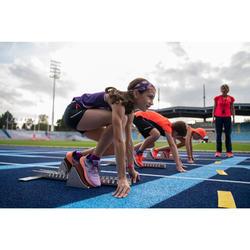 Lauftop RunDry+ Mädchen violett mit Muster