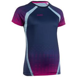 Volleybalshirt V500 voor dames blauw