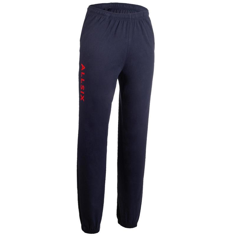 Volejbalové kalhoty V100 tmavě modro-červené