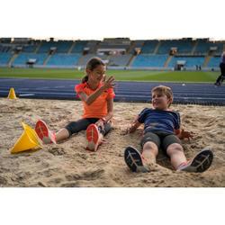 Laufschuhe Kiprun Fast Leichtathletik Kinder orange/blau