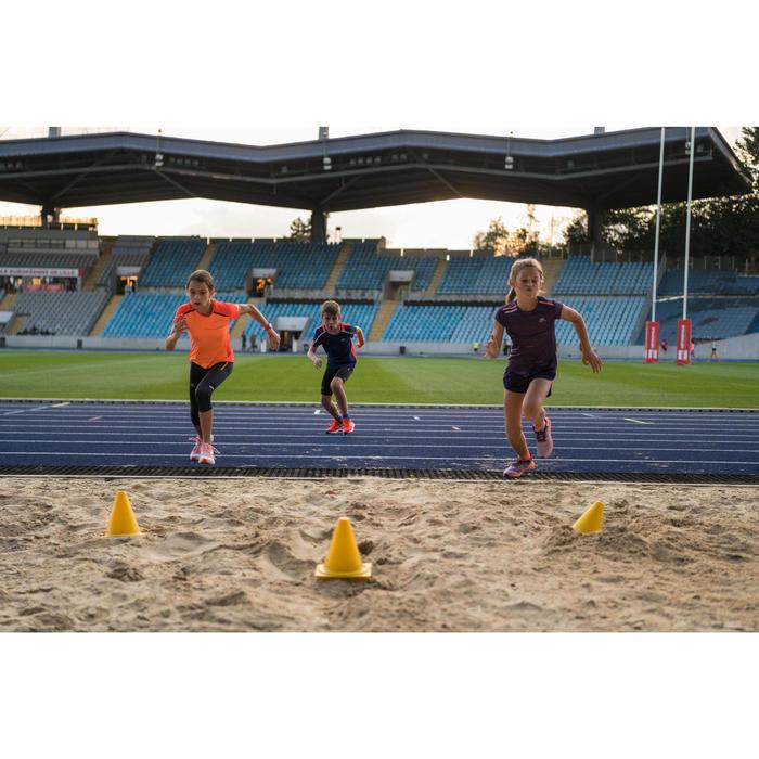 Atletiekschoenen voor kinderen Kiprun Fast zachtpaars koraal
