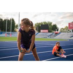 Laufshirt kurzarm Run Dry+ Mädchen violett