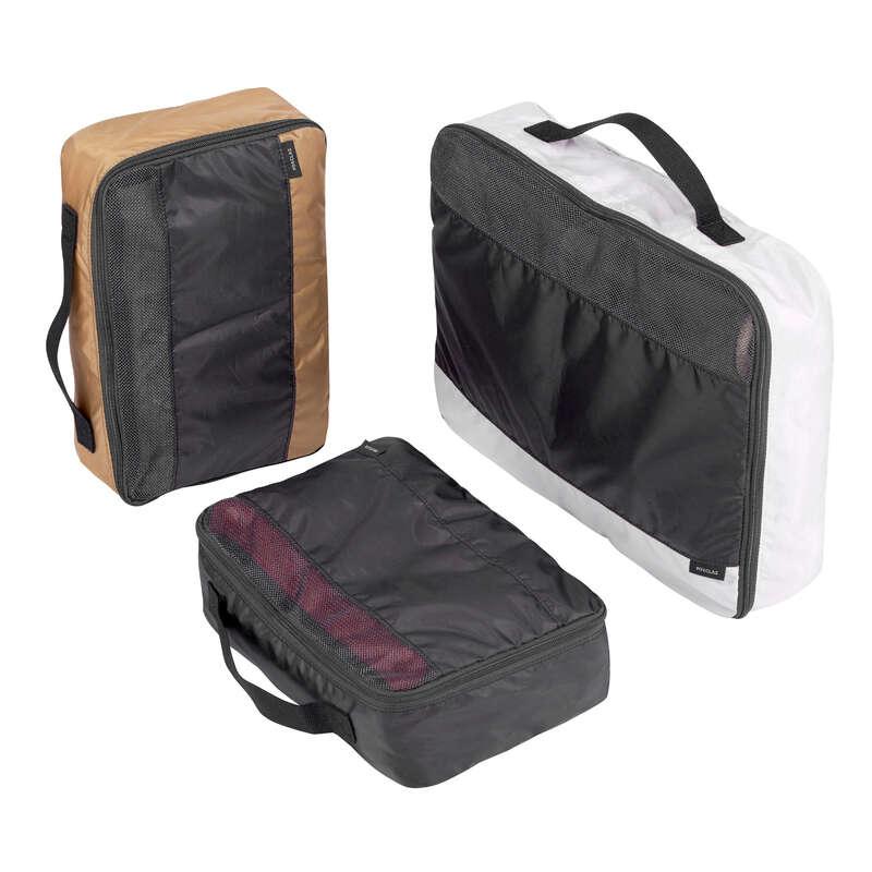 ACCESSORI VIAGGIO E ZAINI COMPATTI Sport di Montagna - Kit 3 sacche di stoccaggio FORCLAZ - Materiale Trekking