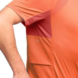 Trekkingshirt Kurzarm Trek 100 Herren orange