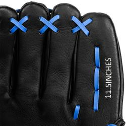 Guante Mano Izquierda Béisbol Kipsta BA150 Negro Azul