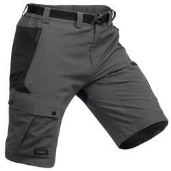 男款登山健行短褲 500-深灰色