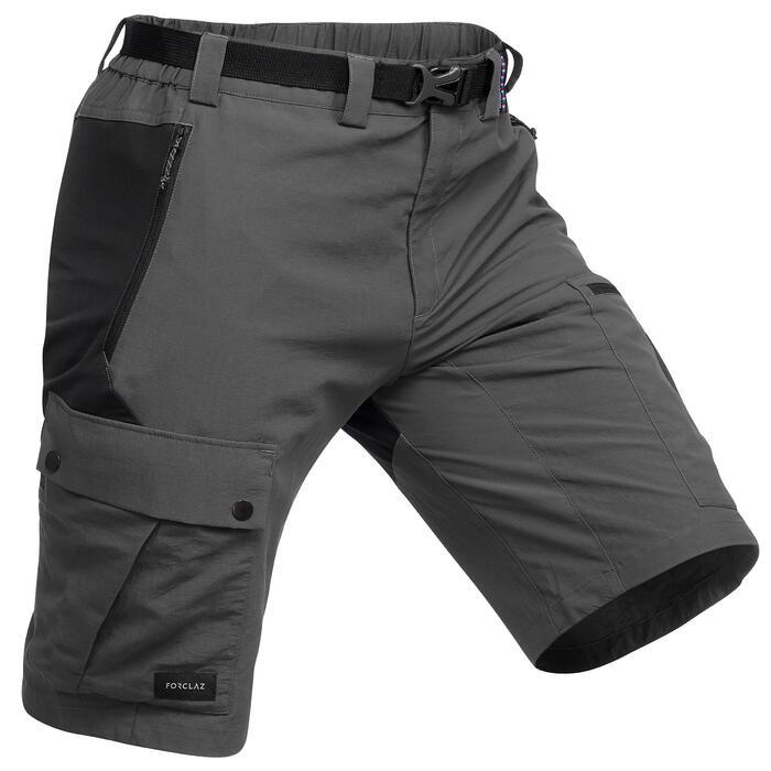 Short de trek montagne - TREK 500 gris foncé homme
