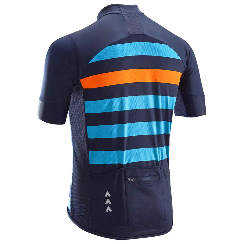 RC500 Short-Sleeved Road Cycling Hot Weather Jersey - Blue