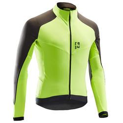 長袖公路車與自行車旅行車衣RC500 - 霓虹黃