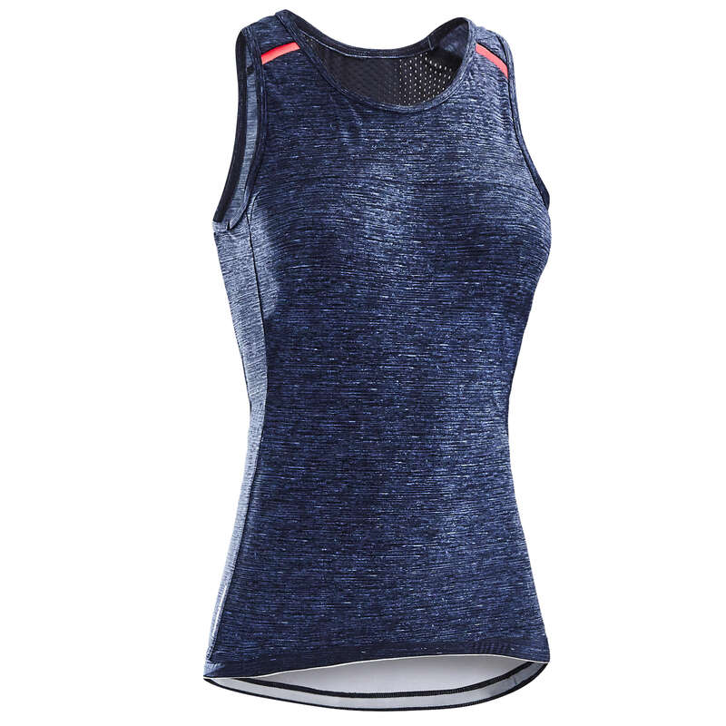 WOMEN WARM WEATHER ROAD APPAREL Clothing - Women's Cycling Tank Top 500 TRIBAN - By Sport