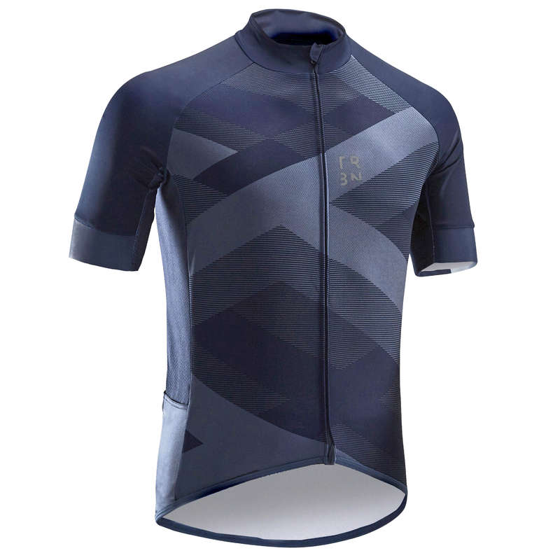 PÁNSKÉ OBLEČENÍ NA SILNIČNÍ CYKLISTIKU DO TEPLÉHO POČASÍ Cyklistika - DRES RC500 X MODRÝ TRIBAN - Helmy, oblečení, obuv