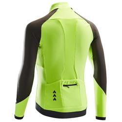 MAILLOT VELO ROUTE MANCHES LONGUES HOMME CYCLOTOURISTE RC500 JAUNE FLUO