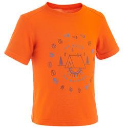 Camiseta Manga Corta de Montaña y Trekking Quechua MH100 Niños Naranja