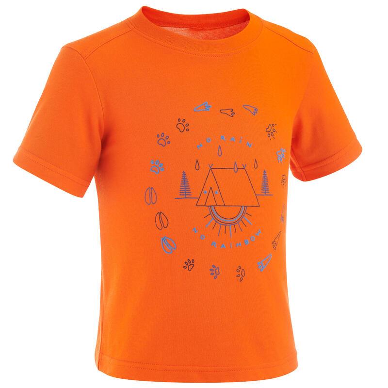 Children's Hiking T-shirt - MH100 - Age 2-6 Years - Orange